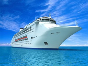 Schiff auf Kreuzfahrt